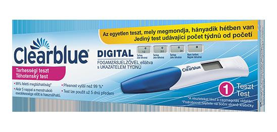 Clearblue digitális terhességi teszt